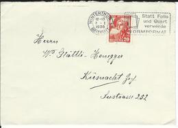 SBK J75, Mi 289 Winterthur 1 - Briefe U. Dokumente