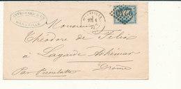 N°45 BORDEAUX VARIETE SUR LETTRE. - 1870 Emission De Bordeaux