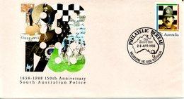 AUSTRALIE. Entier Postal Avec Oblitération 1er Jour De 1988. Police/Cheval/Vélo. - Police - Gendarmerie