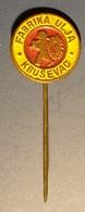 Sunflover Cooking Oil Industry / Krusevac - Pin Badge Pin -  Yugoslavia Serbia - 1980's - Food