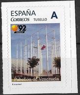 ESPAÑA. TUSELLO. EXPO'92 SEVILLA. PABELLON DE VENEZUELA - 1931-Hoy: 2ª República - ... Juan Carlos I