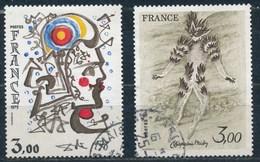 France - Création Philatélique Dali Et Chapelain-Midy YT 2067-2068 Obl - France