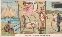 Chromo  états Unis   Tapioca De L' étoile Médaille D'or à Exposition Universelle De 1889 Paris ( Cirque Baseball ) - Autres