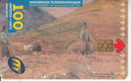 F.Y.R.O.M. - Harvest, Painting/Pandilov, Chip GEM3.1, 12/99, Used - Macedonia