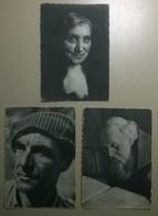 Lot De 3 Cartes Postales Anciennes  / Visages De France - Silhouettes