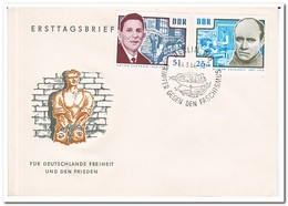 DDR 1964, FDC, Preservation Of National Remembrance And Memorial Sites: Antifascists - FDC: Enveloppes