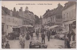 MONTFORT L'AMAURY (78) : LE MARCHE - PLACE BLANCOUR - CHARCUTERIE - 2 SCANS - - Montfort L'Amaury