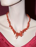 Bijoux-collier-34-corail Rouge - Colliers/Chaînes