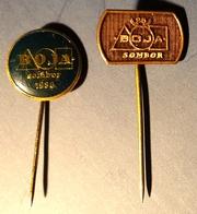 BOJA COLOR Paint Industry - Pin Badge Pin -  Yugoslavia Serbia Sombor - 1980's - Trademarks