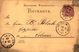 Colmar CPA 68 COMMERCE DE BOIS Cartes Postales Envoyées à M BLOCH L'une En Allemand En 1889 L'autre En Français En 1900 - Colmar