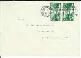 SBK 2xJ57, Mi 2x246  Zürich 1 - Briefe U. Dokumente