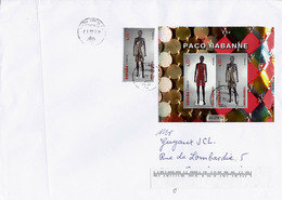 Eveveloppe Grand Format 26x18,4 - Mode Espagnole  Moda Espanola - Spanish Fashion.  Paco Rabanne - Textile