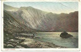 LLYN-LDWAL - SNOWDONIA - CARNARVONSHIRE WITH PENMAENMAWR R.S.O. RAILWAY POSTMARK - Caernarvonshire