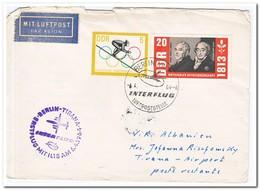 DDR 1964, Flightletter To Tirana, Albanië - [6] Oost-Duitsland