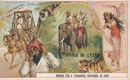 Chromo L' INDE   Tapioca De L' étoile Médaille D'or à Exposition Universelle De 1889 Paris éléphant  Chasse Danseuse - Autres