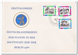 DDR 1964, FDC, Germany Meeting Of The Youth, Berlin - FDC: Enveloppes