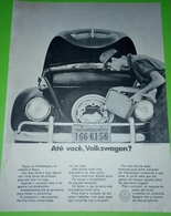 Volkswagen VW  ,vintage Publicidade 1968. Magazine Page - Cars