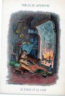 Fables De La Fontaine - Illustration D'après Gustave Doré  Le Singe Et Le Chat - Vieux Papiers