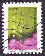 Oblitération Moderne Sur Adhésif De France N°  241 Ou 4310 - Message 08 - Bonnes Fêtes - Silhouette - Oblitérés