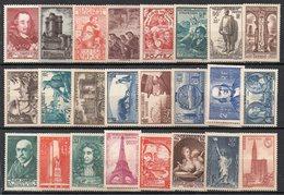 FRANCIA 1936 - 1941 Commemorativi Nuovi Con Linguella  MH  /* (2 Scan) - Timbres