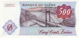 ZAIRE P. 30b 500 Z 1985 UNC - Zaïre
