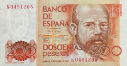 Spain 200 Pesetas, P-156 (16.9.1980) - UNC - [ 4] 1975-… : Juan Carlos I
