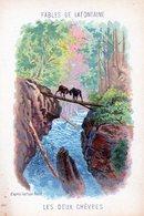 Fables De La Fontaine - Illustration D'après Gustave Doré  Les Deux Chevres - Vieux Papiers