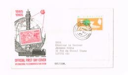 FDC 100 ème Anniversaire UIT - Gibraltar
