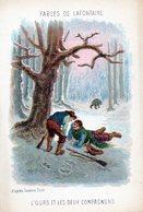 Fables De La Fontaine - Illustration D'après Gustave Doré  L'ours Et Les Deux Compagnons - Vieux Papiers
