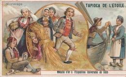 Chromo NORWEGE  Tapioca De L' étoile Médaille D'or à Exposition Universelle De 1889 Paris Pêche - Autres