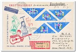 DDR 1964, FDC, Pioneer Meeting Chemnitz - DDR