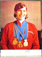 The Champion Of The XI Olympic Games In Skiing, Galina Kulakova USSR Postcard - Winter Sports