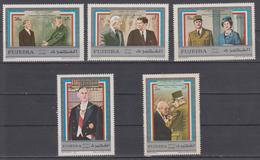 FUJEIRA 1971 GENERAL CHARLES DE GAULLE KONRAD ADENAUER JOHN F.KENNEDY QUEEN ELISABETH II WINSTON CHURCHILL - De Gaulle (Général)