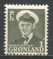 Greenland 1950. Scott #28 (M) King Frederik IX * - Groenland