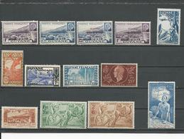 GUYANE FR Scott 170A-B,B11A-B,170C-E,B12,C8A,C8C,CB2-4 Yvert 172-3,177-8,174-6,179,PA20,PA22-5 (13) * Cote 14 $ 1941-44 - Guayana Francesa (1886-1949)