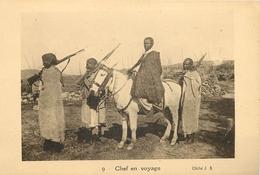 CPA AFRIQUE ABYSSINE SOUVENIR D'ABYSSINE  CHEF EN VOYAGE AVEC SON CHEVAL  N°9 CLICHE.J.B    VOIR IMAGES - South Africa