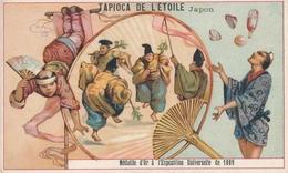 Chromo JAPON Tapioca De L' étoile Médaille D'or à Exposition Universelle De 1889 Paris Jongleur éventail Danse - Autres