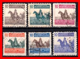 ESPAÑA 6 SELLOS PRO MUTILADOS DE GUERRA AÑO 1945 - Marruecos Español
