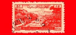 LIBANO - Usato - 1948 - Paesaggio Libanese - 5 - P. Aerea - Libano