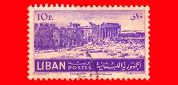 LIBANO - Usato - 1952 - Rovine Di Baalbek - 10 - Libano