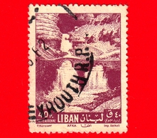 LIBANO - Usato - 1962 - Paesaggi Libanesi - Cascate Di Afka - Falls - 40 - P. Aerea - Libano