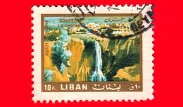 LIBANO - Usato - 1966 - Paesaggi Ed Attrazioni Libanesi - Cascate Di Djezzine - Waterfall - 10 - P. Aerea - Libano