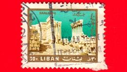 LIBANO - Usato - 1966 - Paesaggi Ed Attrazioni Libanesi - Tempio Del Sole A Baalbek - 10 - P. Aerea - Libano