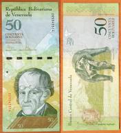 Venezuela 50 Bolivares 2009 Replacement - Venezuela