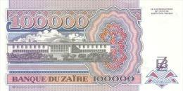 ZAIRE P. 41a 100000 Z 1992 UNC - Zaïre