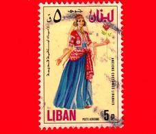 LIBANO - Usato - 1973 - Antico Costume Libanese - Girls Dress (18th Century) - 5 - P. Aerea - Libano