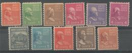 1938 Serie Courante Yt 368-380 - Vereinigte Staaten