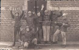 Fotokaart Carte Photo Soldaat Soldate Militair Coiffeur Kamp Van Beverloo ? - Leopoldsburg (Camp De Beverloo)