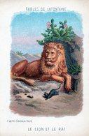 Fables De La Fontaine - Illustration D'après Gustave Doré  Le Lion Et Le Rat - Vieux Papiers