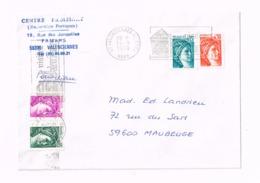 Lettre De Valenciennes à Maubeuge. - 1977-81 Sabine De Gandon